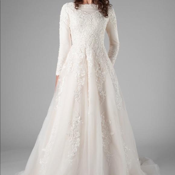 d5c0e396a99 Latter Day Bride Dresses | Long Sleeve High Neck Muslim Modest ...